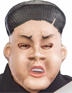 Koreanische Diktator-Maske Politikermaske hautfarben-schwarz