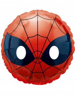 Spider-Man™ Emoji™ Aluminium Ballon rot-schwarz-weiss 43cm