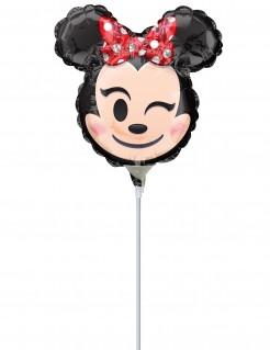 Minnie Maus™ Emoji™ Ballon Folienballon schwarz rot beige 22cm