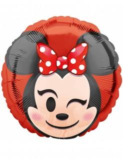 Minnie Maus™ Emoji™ Alumium Ballon rot-schwarz-beige 43cm