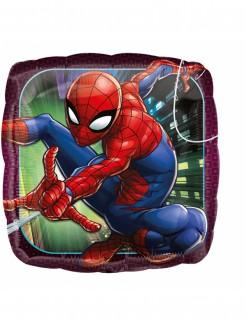 Quadratischer Spider-Man™ Aluminium Ballon Partydeko bunt 43cm