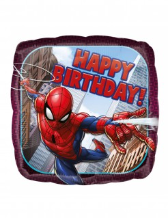 Spider-Man™ Happy Birthday Ballon Kindergeburtstags-Deko bunt 43 cm