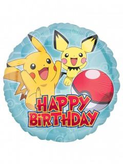 Pokemon™ Aluminium Ballon Happy Bithday bunt 43 cm