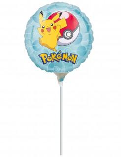 Pokémon™ Ballon Folienballon mit Stiel bunt 23cm