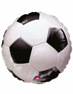Aluminium Ballon Fußball schwarz-weiss 45 cm