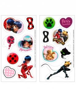 Ladybug™-Zuckerplatten Miraculous™-Oblaten 16 Stück bunt