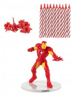 Iron Man™-Kuchendekoset Lizenzartikel 21-teilig rot-gelb-weiss