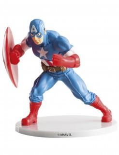 Captain America™-Kuchendekofigur Lizenzartikel blau-rot 9cm