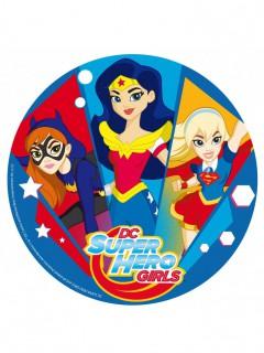 Super Hero Girls™-Tortenaufleger DC Batgirl, Wonder Woman, Supergirl bunt 20cm