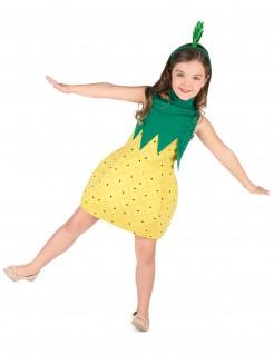 Süsses Ananas-Kostüm für Mädchen grün-gelb