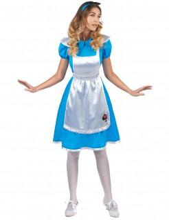 Süsse Alice Damenkostüm blau-weiss