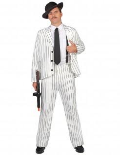 Mafia-Anzug Gangster-Herrenkostüm weiss