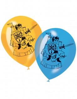 Ritter-Luftballons Partydeko 6 Stück bunt