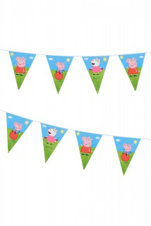 Party-Wimpel Girlande Peppa Wutz™ 270cm
