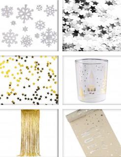 Weihnachten Dekorationspaket 5-teilig silber-goldfarben