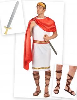 Römer Kostüm-Set 7-teilig weiss-rot