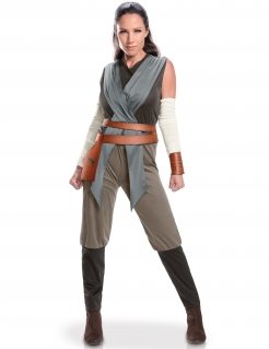 Star Wars 8™ Rey Damenkostüm Lizenzware grau