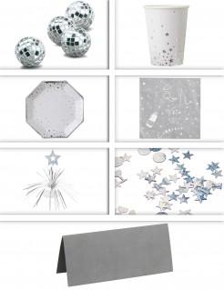 Tisch-Dekorations-Set - Silber
