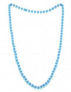 Perlen-Halskette Kostüm-Accessoire blau