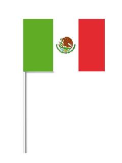 Mexikanische Flagge Mexiko-Fahne grün-weiss-rot 14x21cm