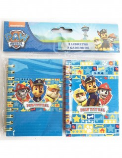 Paw Patrol™-Notizbücher Geschenkidee 2 Stück blau-bunt 10,5x7,5cm