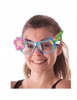 Hawaiianische Spaßbrille für Erwachsene bunt