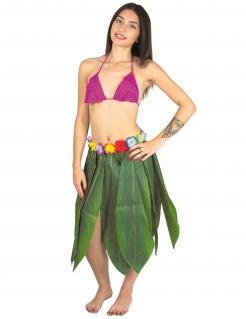 Hawaii-Rock Bananenblätter mit Blumen grün-bunt