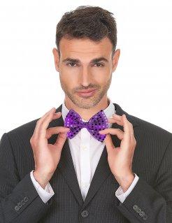 Fliege mit Pailletten Accessoire violett