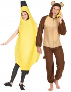 Affe und Banane Paarkostüm für Erwachsene