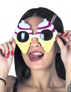 Witzige Eis-Brille Spassbrille Kostümaccessoire bunt