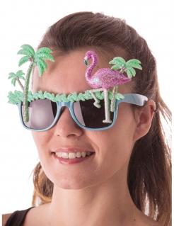 Exotische Spaßbrille Kostümaccessoire glitzer-bunt