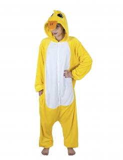 Kanarienvogel-Kostüm Karneval gelb-weiss