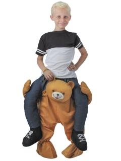 Carry me Teddy-Kostüm für Kinder bunt