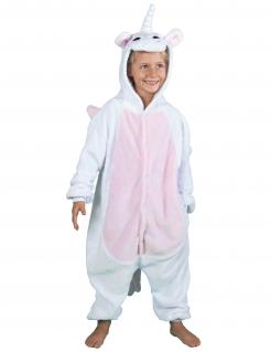 Einhorn-Overall für Kinder weiß-rosa