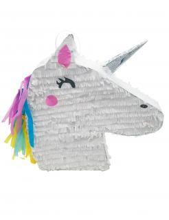 Süße Einhorn-Pinata weiss-pink-schwarz 47 x 32 x 8 cm
