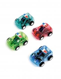 Polizeiauto Spielzeug Pinatazubehör bunt 4 cm