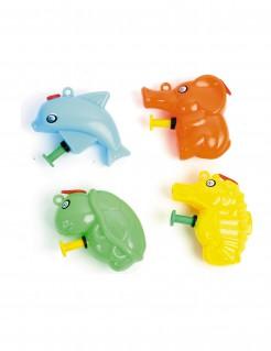Mini-Wasserpistole Piñata-Accessoire bunt 6cm