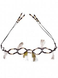 Indianer-Gürtel für Damen Accessoire braun-beige
