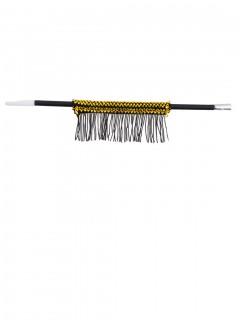 Zigarettenhalter mit Fransen schwarz-gold 33,5 cm