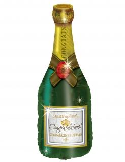Luftballon Champagnerflasche Dekoration 94cm