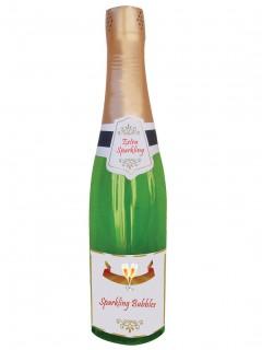 Faltbare Champagnerflasche Partydeko bunt 76cm