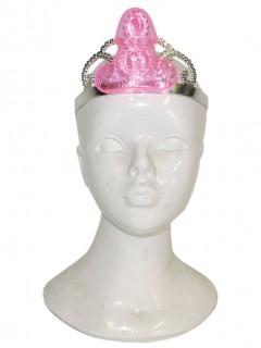Frivoles Diadem für Junggesellinnenabschiede silber-rosa