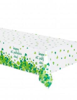 St. Patrick´s Day Tischdecke grün-weiss mit Spruch 137x213cm