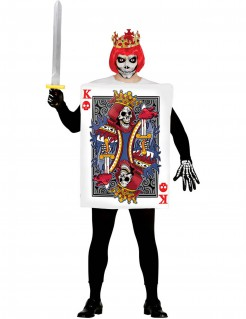 Untoter Skelettkönig Kartenspiel-Kostüm bunt