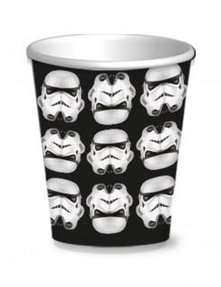 Stormtrooper-Becher Star Wars™-Tischdeko 8 Stück schwarz-weiss 250ml