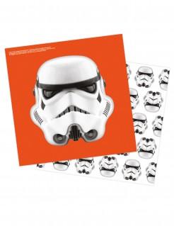 Stormtrooper™ Servietten Star Wars™ 16 Stück orange weiss schwarz