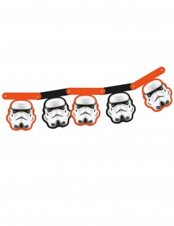 Stormtrooper™ Girlande Star Wars™ orange schwarz weiss 163,5cm