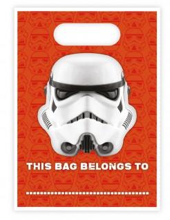 Stormtrooper™ Geschenktüten Star Wars™ 16 Stück orange weiss schwarz 16,5x23cm