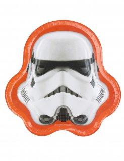 Stormtrooper™ Teller Star Wars™ 8 Stück orange weiss schwarz