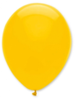 6 Party Luftballons gelb 30cm